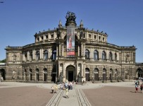 Dresden, Theaterplatz, Semperoper
