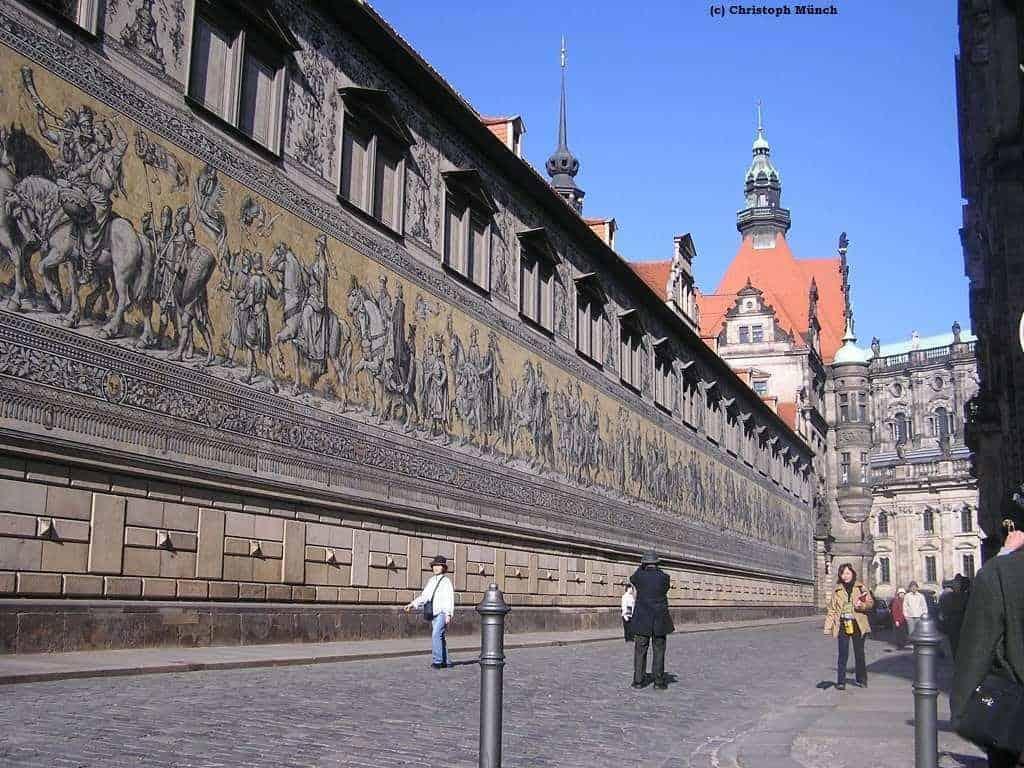 Fürstenzug Dresden sächsische Geschichte