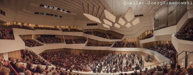 Die Dresdner Philharmonie im Konzertsaal im Kulturpalast