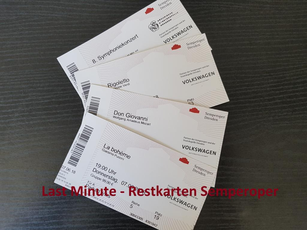 Restkarten Semperoper Dresden Tickets